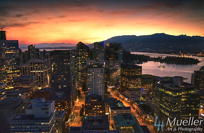 Vancouver Sunset Vantage Point