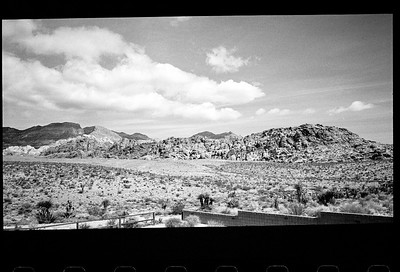 Red Rock (taken through a window), April 2014.