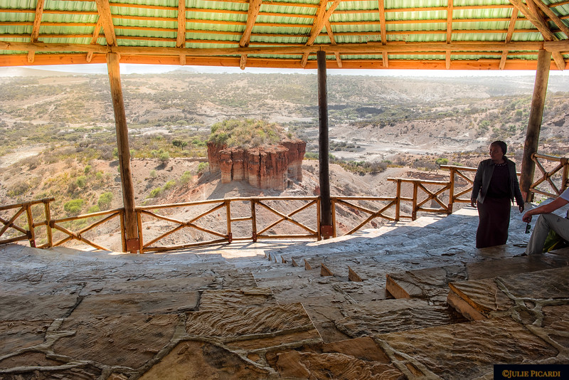 Looking out at Olduvai Gorge