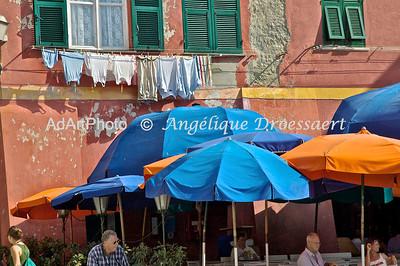 Laundry in Monterosso, Italy