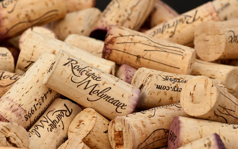 Used Corks, Rodrigue Molineaux Winery