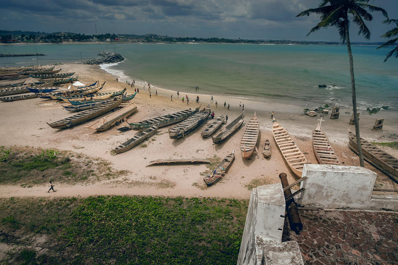 Fishing boat graveyard on the beach at Cape Coast Castle in Ghana Africa with Intentionally Lost and Kevin Wenning #intentionallylost