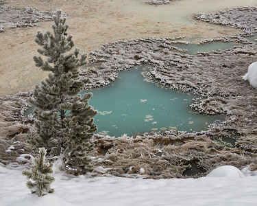 A frosty morning at the springs of the West Thumb of Yellowstone lake.