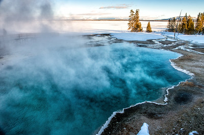 Hot springs in the West Thumb of Yellowstone Lake.