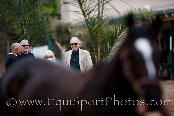 Owner Jerry Moss watches Zenyatta at Del Mar, Del Mar Calif. August 7, 2010  Please Credit Alex Evers/ Equisport Photos