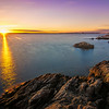 A beautiful sunset at Lighthouse Point Park in New Haven,Connecticut,USA.
