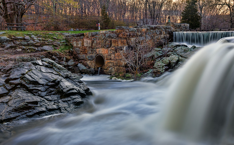 After the rain at Southford Falls State Park in Southbury, Connecticut,USA,