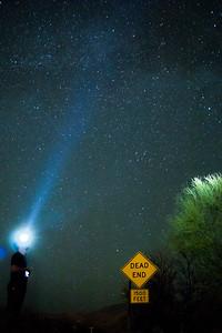 Light to the Heavenly Desert Sky