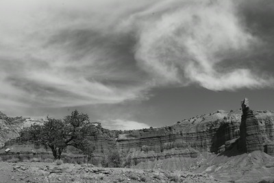 Clouds and Earth, B&W