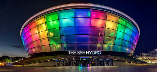 SSE Hydro lit for Glasgow Pride weekend