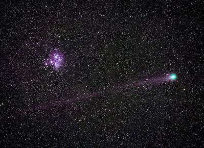 Lovejoy Comet and Pleiades, M45