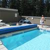 Whisler, piscine et spa de l'hôtel.