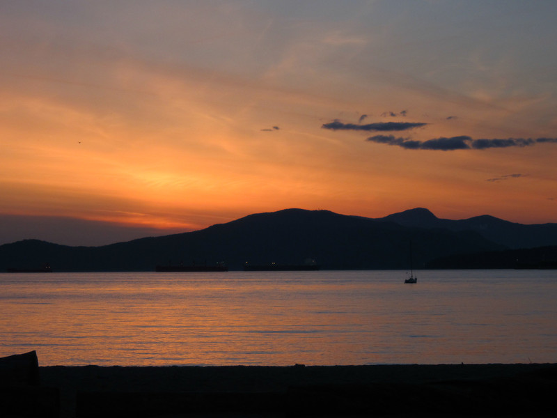 Il était magnifique ce coucher de soleil.