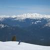 La neige est super belle pour le ski.