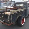 """Custom bumper, vintage license plate, 1 1/4"""" trailer hitch, stainless tailgate chains, fender-well exit headers, wood side-boards, new rubber & red wheels & leaf spring rear.....what else would a guy need...other than maybe fenders & running boards<br /> <br /> Ted......?"""