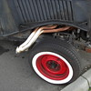 small-block Chevy power...<br /> <br /> I remember that 3-bolt pattern in the side of the frame directly in from the front edge of the tire as being for the original case fender support