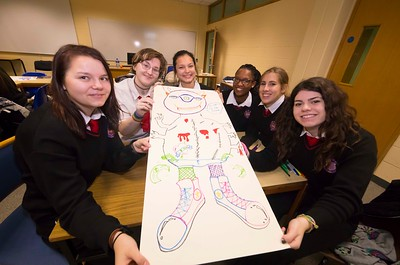 22/11/2017. Waterford Institute of Technology's (WIT) 'College Awareness Day. Pictured are Valeria Liankevich, Maddie Cahill-Byrne, Eduarda da Costa, Alanna Eden , Lucía Navarrete and Virginia Abenavoli from the Presentation Secondary School, Waterford City. Picture: Patrick Browne  Hundreds of secondary school students from across the South East celebrated College Awareness Week by attending Waterford Institute of Technology's (WIT) 'College Awareness Day' on Wednesday 22 November 2017. The events gave secondary school students a taste of college life and helped students of all ages to become 'college ready' by raising awareness of the benefits of going to college. There was an  hourly talk/workshop on how to become college ready (including presentations on college life), an expo area, and a chance to explore the campus. Students attended workshops on sport, electronics, sport and creative as well as presentations on college life at WIT, student supports, new courses for 2018, routes of entry and clubs and societies. They also got an overview of WIT's new common and broad entry courses for 2018.     Elaine Larkin Communications & PR Executive, Waterford Institute of Technology   Phone: +353 51 845577  Mobile: 087-7105148