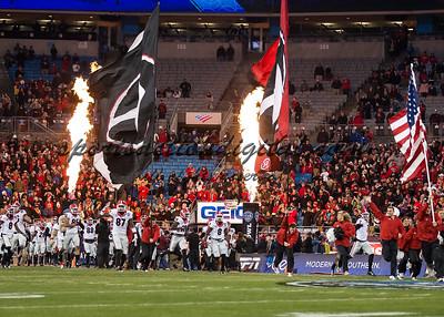 Georgia players take the field