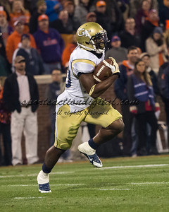 Georgia Tech Yellow Jackets running back David Sims (20)