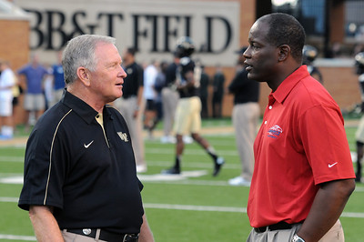 Coach Grobe and Coach Gill pregame