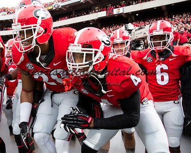 Georgia players take the field