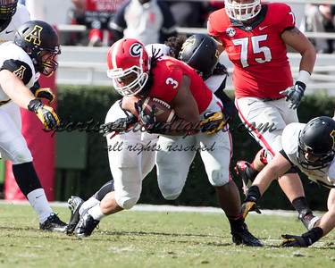 Georgia Bulldogs running back Todd Gurley (3)