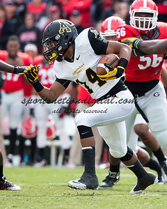 Appalachian State Mountaineers running back Marcus Cox (14)