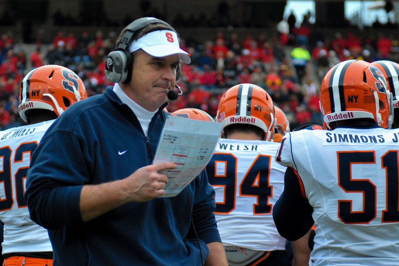 Syracuse Orange head coach Doug Marrone during the game.  Cincinnati Bearcats defeated Syracuse Orange (35-24) at Nippert Stadium in Cincinnati, Ohio.