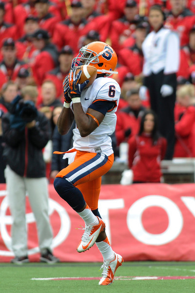 Syracuse Orange safety Ritchy Desir (6) during the game.  Cincinnati Bearcats defeated Syracuse Orange (35-24) at Nippert Stadium in Cincinnati, Ohio.