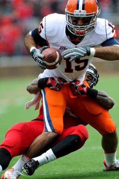 Syracuse Orange wide receiver Alec Lemon (15) during the game.  Cincinnati Bearcats defeated Syracuse Orange (35-24) at Nippert Stadium in Cincinnati, Ohio.
