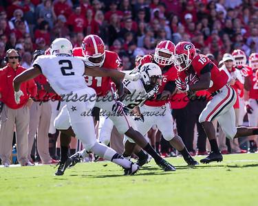 Athens, Georgia, October 4, 2014: The number 13 Georgia Bulldogs beat the Vanderbilt Commodores 44-17 at Sanford Stadium.
