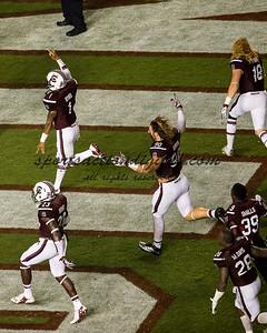 South Carolina Players celebrate their victory
