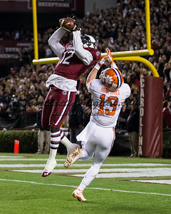 South Carolina Gamecocks safety Brison Williams (12), Clemson Tigers wide receiver Adam Humphries (13)
