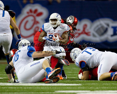 Georgia Bulldogs vs Boise State Broncos in the Chick-fil-A Kickoff game at the Georgia Dome.  Boise State won 35-21.