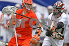 Princeton's Long Ellis bends his long pole against the arm of Syracuse's Matt Abbott during the 2009 Big City Classic at Giants Stadium