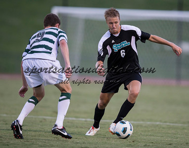 Number 8 ranked Charlotte beats number 16 ranked Coastal Carolina 1-0 on a goal by Thomas Allen in the 101st minute during the second overtime.  Henrik Robstad (6), Donnie Smith (9)
