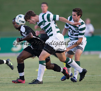 Number 8 ranked Charlotte beats number 16 ranked Coastal Carolina 1-0 on a goal by Thomas Allen in the 101st minute during the second overtime.  Anthony Perez (21), Donnie Smith (9), Kristoffer Sandtroen (3)
