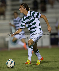 Number 8 ranked Charlotte beats number 16 ranked Coastal Carolina 1-0 on a goal by Thomas Allen in the 101st minute during the second overtime.  Jennings Rex (17)