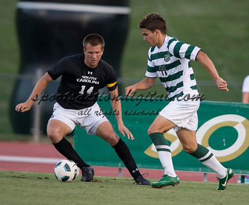 The number 5 ranked Charlotte 49ers play the University of South Carolina Gamecocks at Transamerica field in Charlotte.  Charlotte won 3-2 in the second overtime.  Giuseppe Gentile (11), Kevin Stam (14)