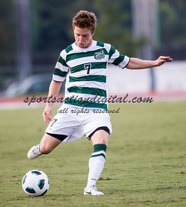 The number 5 ranked Charlotte 49ers play the University of South Carolina Gamecocks at Transamerica field in Charlotte.  Charlotte won 3-2 in the second overtime.  Owen Darby (7)