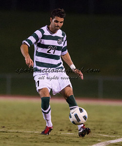 The number 5 ranked Charlotte 49ers play the University of South Carolina Gamecocks at Transamerica field in Charlotte.  Charlotte won 3-2 in the second overtime.  Anthony Perez (21)