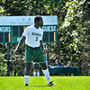 Freshman Abdul Kamara of Milton, MA takes to the pitch. 0362