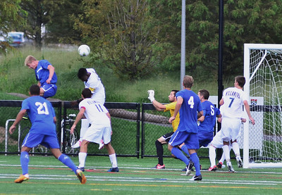 Brian Klazura redirects the ball into the goal