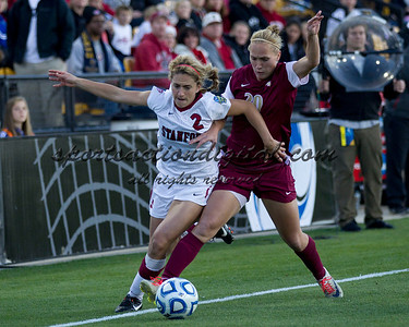 Stanford Cardinals vs Florida State Seminoles in the NCAA 2011 Women's College Cup semifinals.  Stanford won 3-0