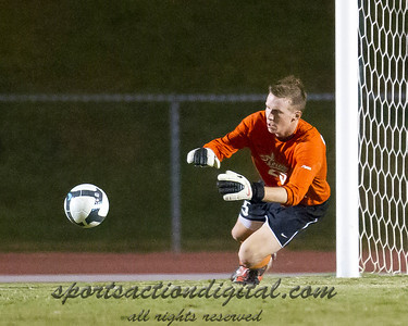 Patrick Eavenson (Charlotte) makes a save