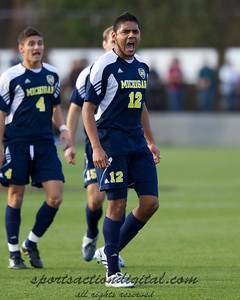 Jeffrey Quijano (12) celebrates after a Michigan goal