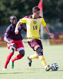 Rock Hill, SC, September 27, 2014: The Winthrop Eagles beat the Liberty Flames 2-0 in a game at Eagles Field.