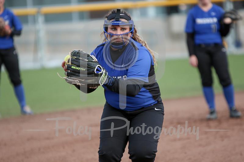 Becker College Hawks third baseman Cassandra Messier (21)