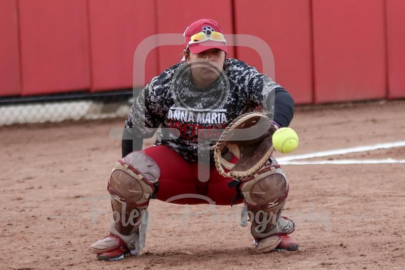 Anna Maria Amcats catcher Mackenzie Shurtleff (16)