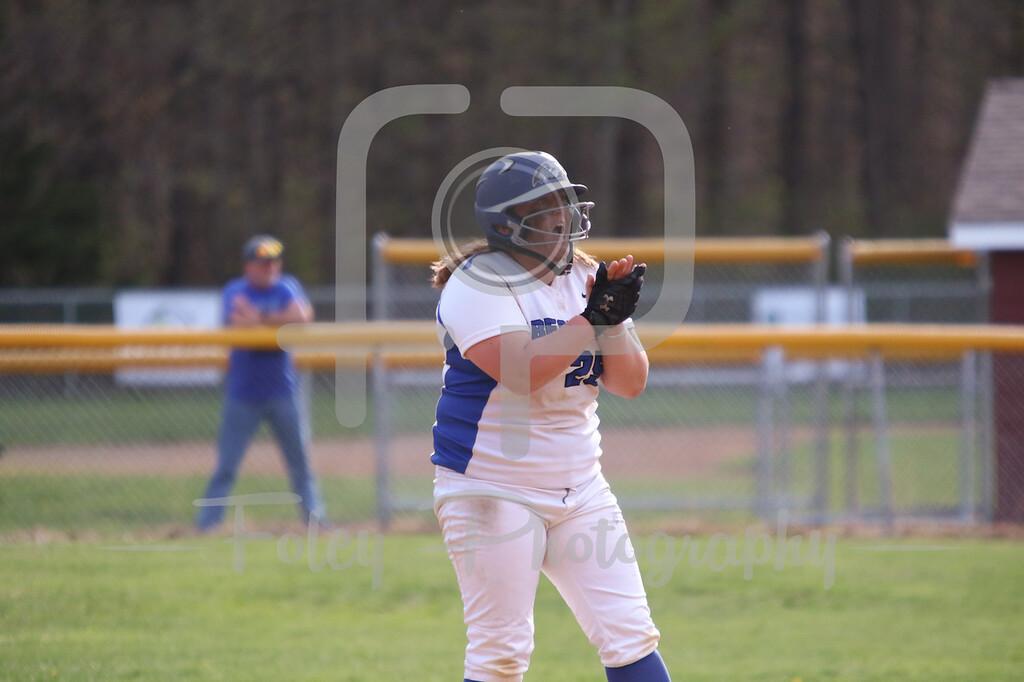 Becker College Hawks first baseman Ashley Ciepiela (25)